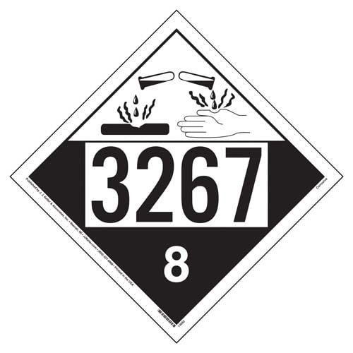 3267 Placard - Class 8 Corrosive (02293)