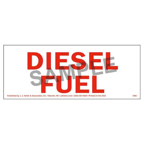 Diesel Fuel Label (01744)