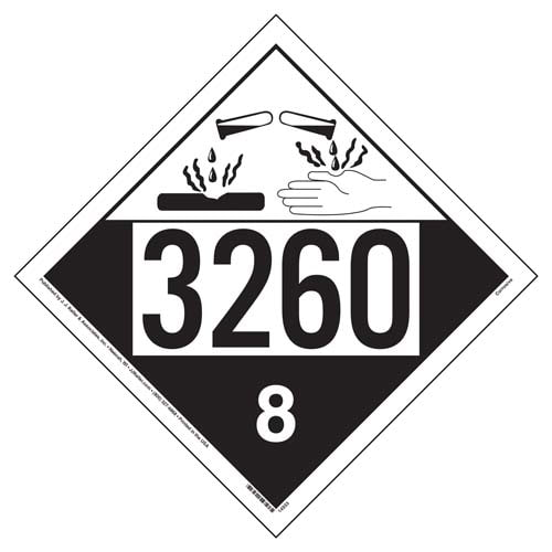 3260 Placard - Class 8 Corrosive (02207)