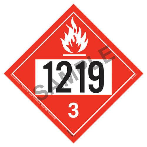 1219 Placard - Class 3 Flammable Liquid (02252)
