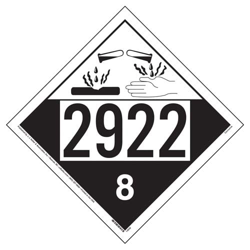 2922 Placard - Class 8 Corrosive (05464)