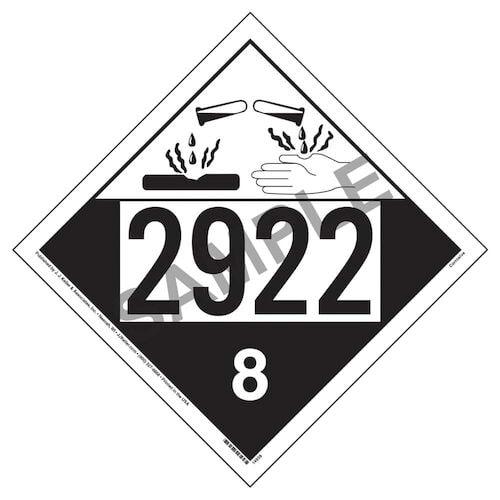2922 Placard - Class 8 Corrosive (05464)