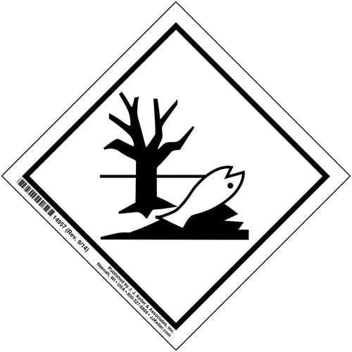 Marine Pollutant Markings - High-Gloss Paper, Permanent Adhesive (00238)