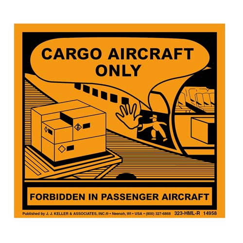 Aircraft Package Label - Paper (02556)