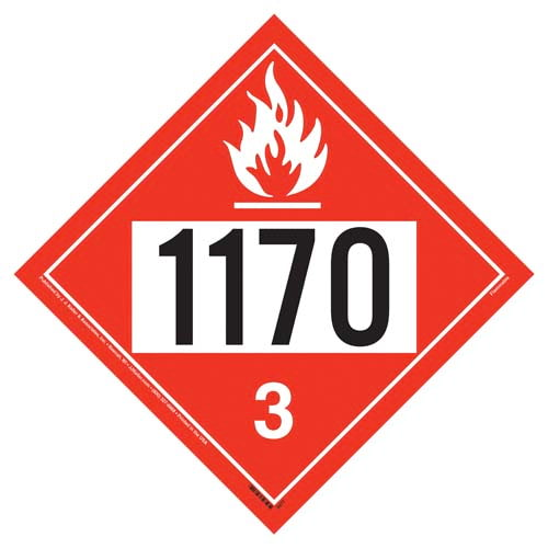 1170 Placard - Class 3 Flammable Liquid (02369)