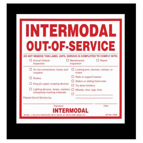 Intermodal Out-of-Service Label (02700)