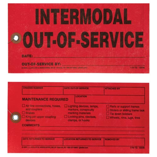 Intermodal Out-of-Service Tag (02701)