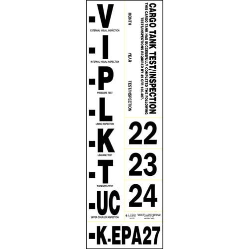 Cargo Tank Annual Inspection Label (00303)