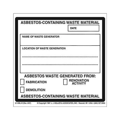 Asbestos-Containing Waste Material Package Marking (01624)