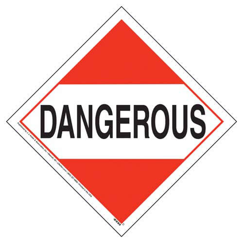 Dangerous Placard - Worded (02440)