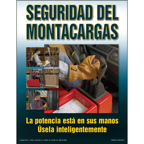 The Forklift Workshop Training Program - Awareness Poster (Spanish) (03681)