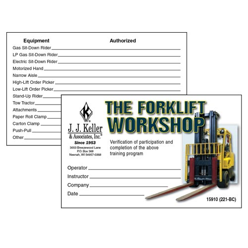 The Forklift Workshop - Wallet Card (03864)