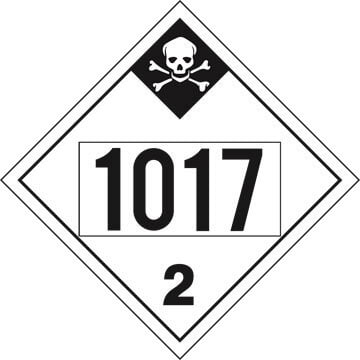 1017 Placard - Division 2.3 Inhalation Hazard (02393)