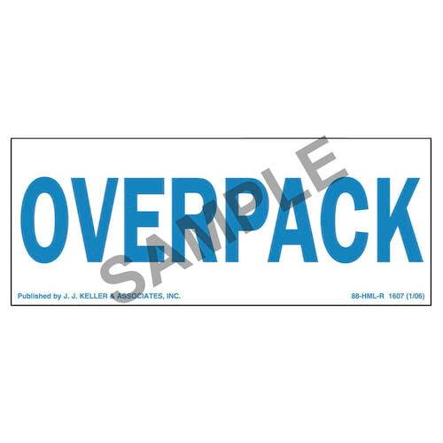 Overpack Package Marking - Paper, Blue Ink (01730)