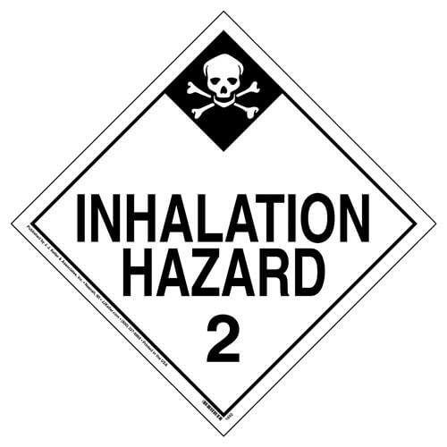 Division 2.3 Inhalation Hazard Placard - Worded (02459)