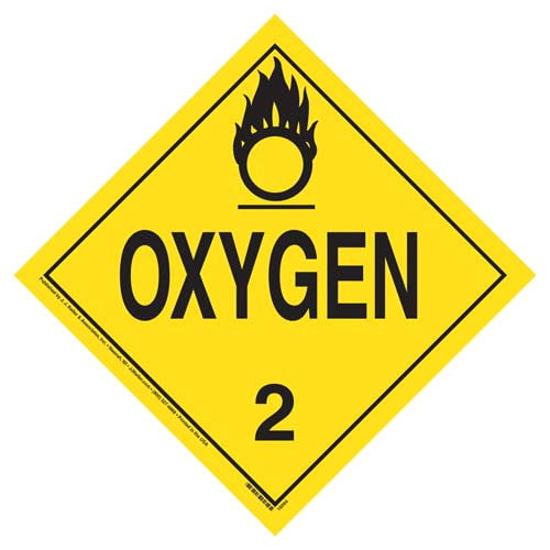 1073 Placard - Division 2.2 Oxygen - Aluminum (03483)