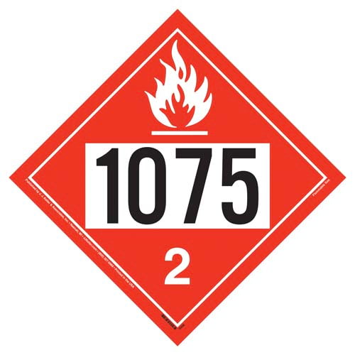 1075 Placard - Division 2.1 Flammable Gas (02347)