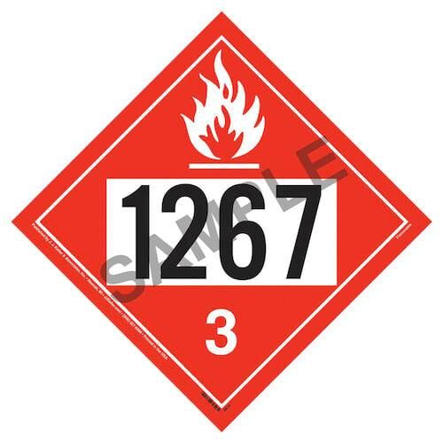 1267 Placard - Class 3 Flammable Liquid (02358)