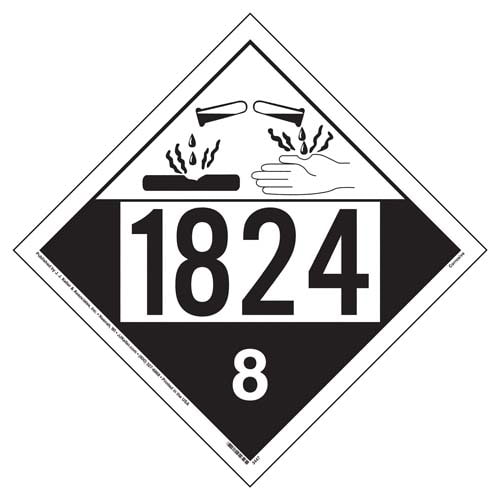 1824 Placard - Class 8 Corrosive (02512)