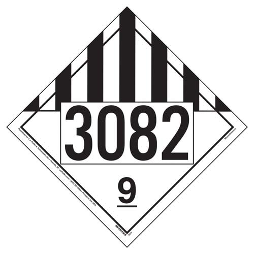 3082 Placard - Class 9 Miscellaneous (02530)