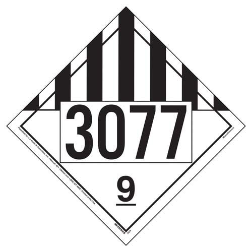 3077 Placard - Class 9 Miscellaneous (02537)