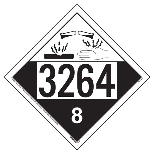 3264 Placard - Class 8 Corrosive (02228)