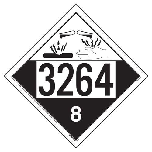3264 Placard - Class 8 Corrosive (02228)