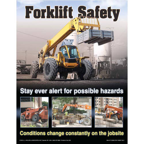 The Forklift Workshop for Construction Training Program - Awareness Poster (04536)