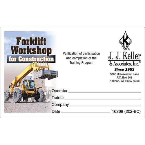 The Forklift Workshop for Construction - Wallet Card (04553)