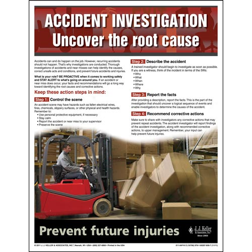 "Accident Prevention - Workplace Safety Advisor Poster - ""Accident Investigation"" (04854)"