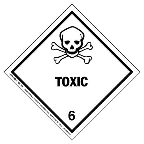 Class 6 Toxic Labels (00361)