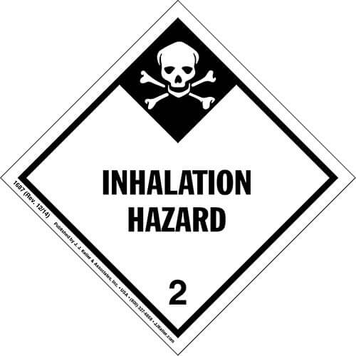 Hazardous Materials Labels - Class 2, Division 2.3 -- Inhalation Hazard - Paper, Roll (00136)
