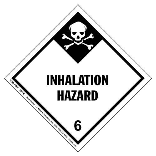 Hazardous Materials Labels - Class 6, Division 6.1 -- Packing Groups I and II -- Inhalation Hazard - Paper, Roll (00139)