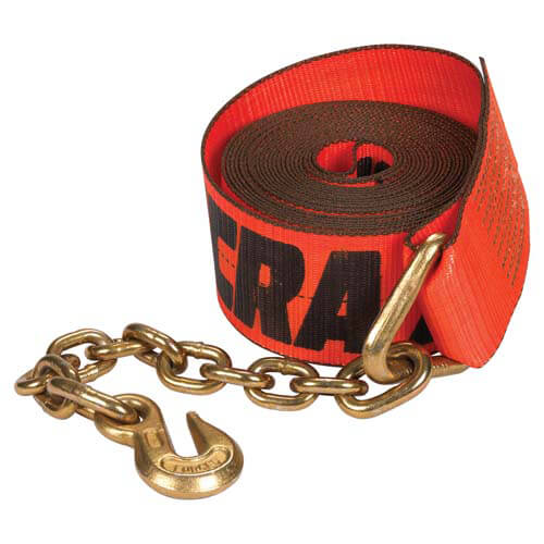 X-TREME Heavy-Duty Winch Strap w/Chain Anchor (05126)