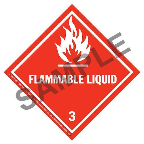 Hazardous Materials Labels - Class 3 -- Flammable Liquid - Poly (05257)