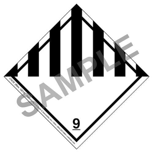 Hazardous Materials Labels - Class 9 -- Miscellaneous - Poly (05278)