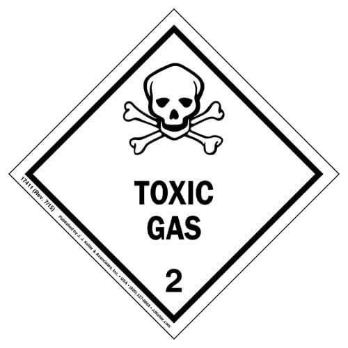 class 2 toxic gas labels  u2013 international dangerous goods