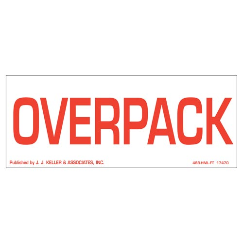 Overpack Package Marking - Paper, Red Ink (05462)