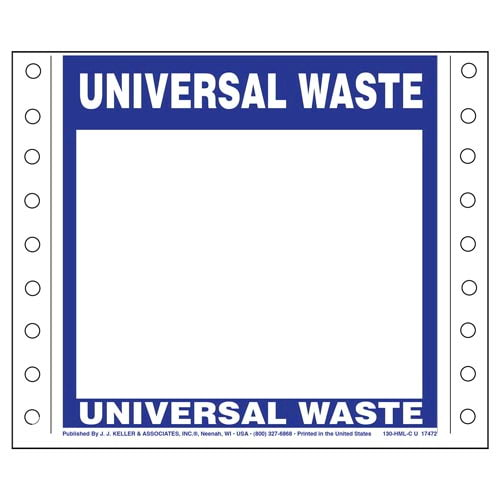 Universal Waste Label (05444)