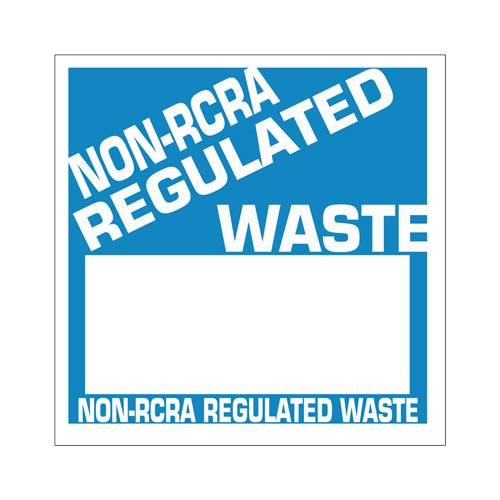 Non-RCRA Regulated Waste Labels - Poly (05445)