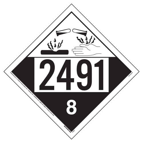 2491 Placard - Class 8 Corrosive (05465)