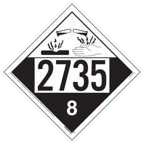 2735 Placard - Class 8 Corrosive (05468)