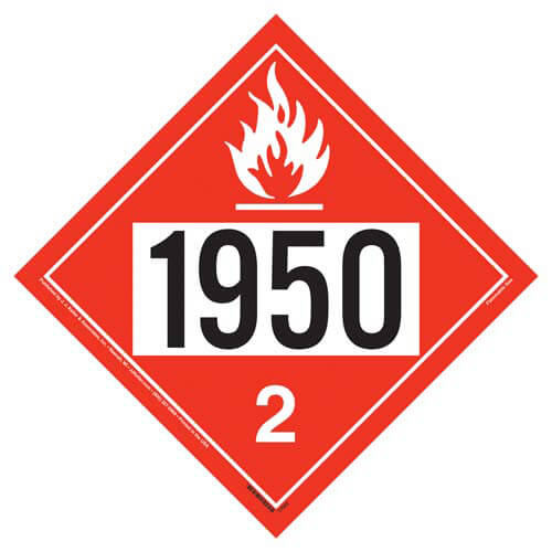 1950 Placard - Division 2.1 Flammable Gas (05470)