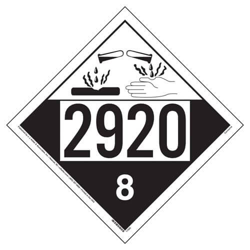 2920 Placard - Class 8 Corrosive (05473)
