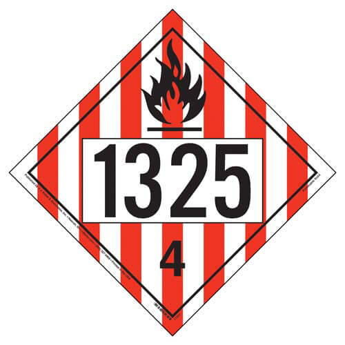 1325 Placard - Division 4.1 Flammable Solid (05475)
