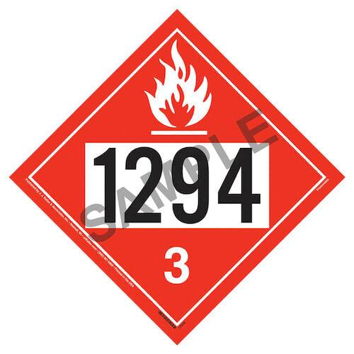 1294 Placard - Class 3 Flammable Liquid (05477)
