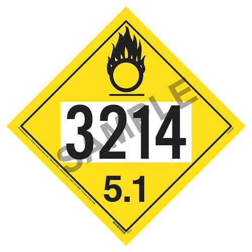 3214 Placard - Division 5.1 Oxidizer (05480)