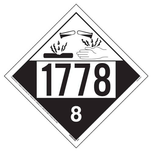 1778 Placard - Class 8 Corrosive (01697)