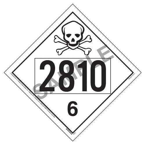 2810 Placard - Division 6.1 Poison (01706)