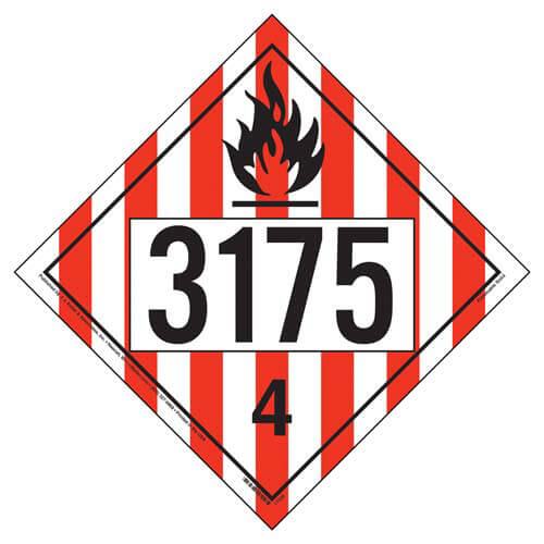 3175 Placard - Division 4.1 Flammable Solid (05492)